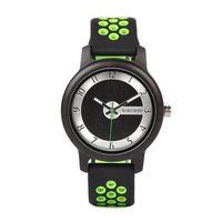 ボボバード BOBO BIRD 竹製腕時計 ユニセックス シリコンストラップ グリーン/オレンジ/ブラック