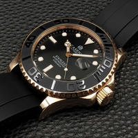 CASENO メンズ 自動巻腕時計 ヨットマスターオマージュモデル セラミック回転ベゼル