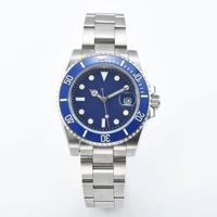 メンズ 自動巻腕時計 40mm サブマリーナスタイル ブルー サファイア風防 セラミックベゼル