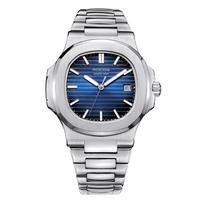 ROCOS メンズ 自動巻腕時計 ノーチラスオマージュモデル R0139g ブルー/ブラック/ローズゴールド
