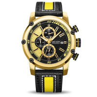 MEGIR クロノグラフ クォーツ腕時計 メンズ ミリタリー スポーツ