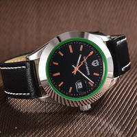 SOUTHBERG クォーツ腕時計 ミルガウススタイル レザーバンド シルバー/ゴールド/ブラック