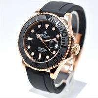 PETER LEE ヨットマスター風 自動巻 機械式腕時計 42mm カラバリ3色 メンズ