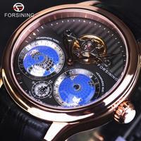 Forsining トゥールビヨン 自動巻き 機械式腕時計 メンズ スケルトン