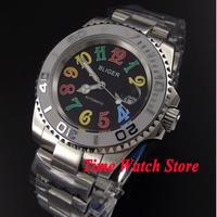 Bliger 40mm 自動巻き 機械式腕時計 メンズ サファイアガラス ブラックダイヤル BL103
