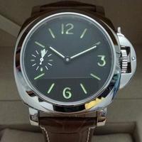 GEERVO 手巻き機械式腕時計 44mm メンズ ルミノールスタイル ロゴなし