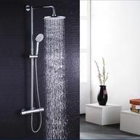 浴室シャワーセット 高級シャワーヘッド ホース クロームメッキ 壁掛け サーモスタット ステンレス