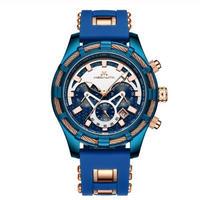 MEGALITH メガリス メンズ クォーツ腕時計 46mm クロノグラフ 日本製ムーブ搭載 スポーツ 全4カラー