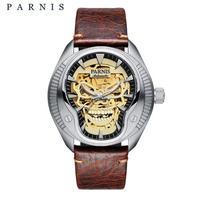 Parnis 自動巻 メンズ腕時計 ドクロデザイン