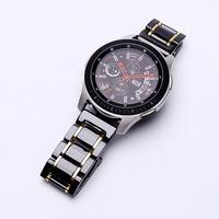 Samsung Galaxy Watch 46mm 42mm Gear S3 セラミック&ステンレススチールバンド ストラップ