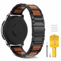 Samsung Galaxy Watch 46mm Gear S3 木製バンド ステンレスストラップ 22mm