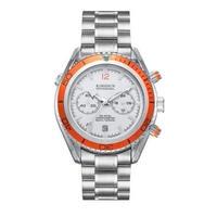 KIMSDUN クォーツ腕時計 クロノグラフ シーマスタースタイル ステンレスバンド 選べる5カラー