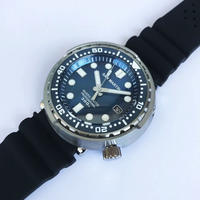 San Martin メンズ 自動巻腕時計 ツナ缶デザイン 48mm 300m防水 NH35ムーブ ブルー