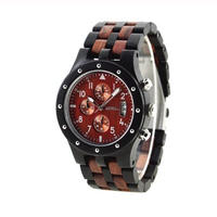 BEWELL 木製腕時計 クロノグラフ クォーツ メンズ 56mm 全4カラー