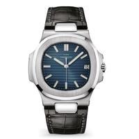 LGXIGE メンズ クォーツ腕時計 レザーストラップバージョン ノーチラススタイル