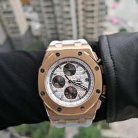 DIDUN DESIGN クォーツ腕時計 クロノグラフ メンズ スポーツ ロイヤルオーク風