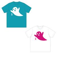 おばけTシャツ(ターコイズ・ホワイト)