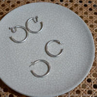 【受注販売】silver925 simple hoop pierce/earring