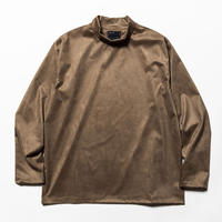 Suede Split Sleeve Mockneck(Brown)/MW-CT20201