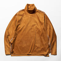 Suede Split Sleeve Turtleneck(Light Brown)/MW-CT20202