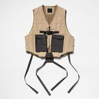 Peach Cloth Down Vest/L6/Tan[MW-JKT19210]