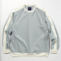Elastic Twill Popper Sweat/ASH BLUE [MW-CT18101]