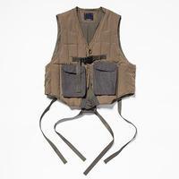 Peach Cloth Down Vest/L6/Olive[MW-JKT19210]