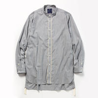 Pinstripe Long Shirt/CHARCOAL [MW-SH18104]