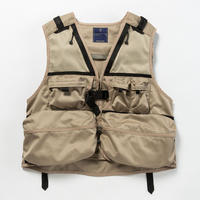 Work Twill Luggage Vest/BEIGE [MW-JKT18103]