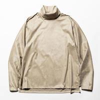 Suede Split Sleeve Turtleneck(Grey)/MW-CT20202