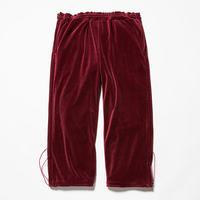 Velour Popper Pants/WINE [MW-PT18204]