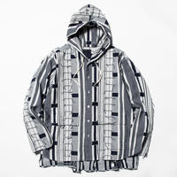 Crazy Woven Shirts Parka (Navy Pattern) / [MW-SH20103]