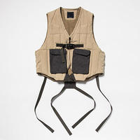 Peach Cloth Down Vest/L6/Tan[MW-JKT19210]
