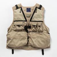 Work Twill Luggage Vest/BEIGE [MW-JKT18103]