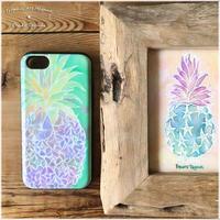 new!カードスライドiPhoneケースpineapple