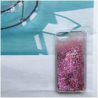 グリッターiPhoneケース:palmtreeピンク