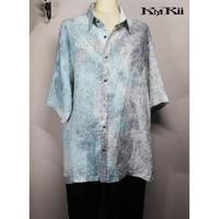 KMRii ・ケムリ・Powder Storm Linen Box Shirt・リネンシャツ