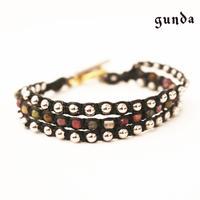 gunda ・ガンダ・BUBBLE ARROWS・3連ブレスレット・トルマリン