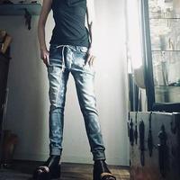 KMRii ・ケムリ・LAGUNA DENIM 2018・ブルー・デニム・パンツ