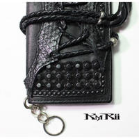 KMRii ・ケムリ・WL-BLACK ESTOC/STG・長財布・2つ折りウォレット