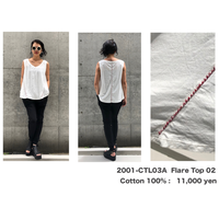 KMRii ・ケムリ・Flare Top 02・ レディースカットソー・Black & White
