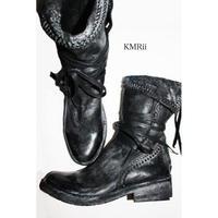 KMRii (ケムリ) 2016新作 ブーツ CRUSH CHROME BOOTS