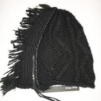 KMRii (ケムリ) ・CABLE DOMINO BEANIE 02・ニットキャップ