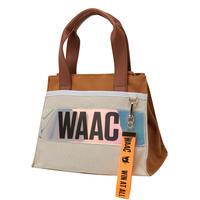 【WAAC】ネオン配色カートバッグ ブラウン/072302880