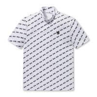 【WAAC】MENS ロゴプリント モックネック Tシャツ ホワイト/072312011