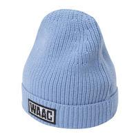 【WAAC】カラーニット帽 ブルー/072304836
