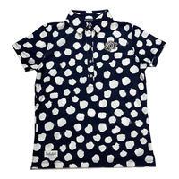 【ZOY】JAMS ドットプリント WOMENS 半袖ポロシャツ ネイビー/071602014