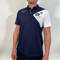 【ZOY】MENS ファンクショナルストレッチ鹿の子ポロシャツ ネイビー/071729021