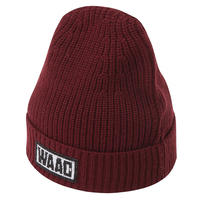 【WAAC】カラーニット帽 ボルドー/072304836