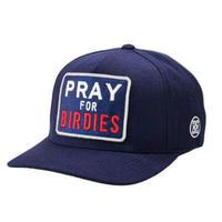 【G/FORE】プレミアムストレッチ PRAY FOR BIRDIES スナップバックキャップ TWLIGHT/072404836
